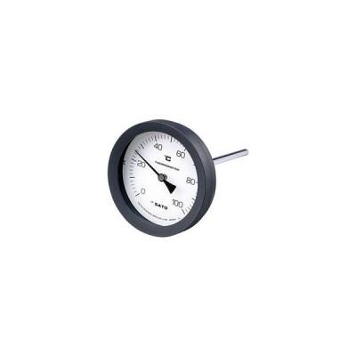 佐藤計量器製作所 2080-14 バイメタル温度計 BM-T-100P シリーズ 0〜100℃, L=100mm, RPT 1/2 SATO