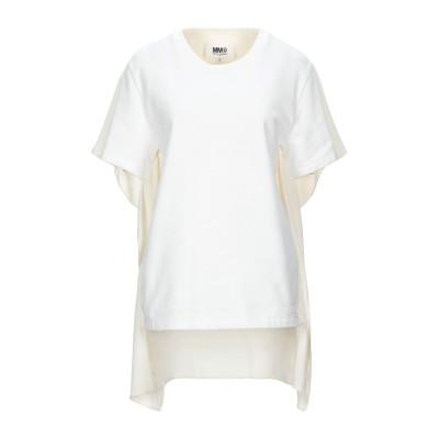 MM6 メゾン マルジェラ MM6 MAISON MARGIELA スウェットシャツ ホワイト XS コットン 100% / ポリウレタン / ポリ