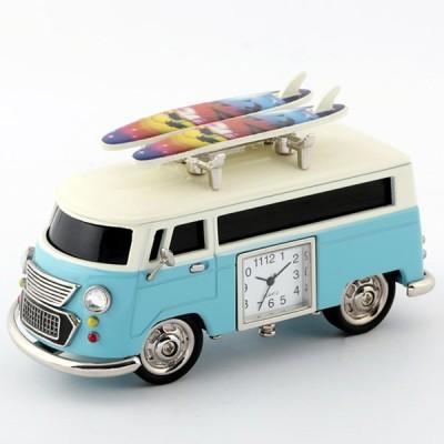 ミニチュアクロックコレクション[Miniature Clock Collection]ミニチュア置時計 車 バス サーフボード ライトブルー 水色/MC-C3159KP238-BL