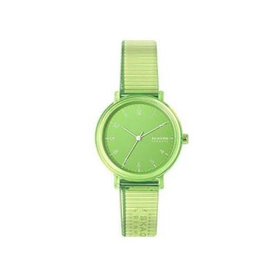 Skagen Women's Aaren Quartz Analog Stainless Steel and Plastic Watch, Color: Clear Green (Model: SKW2857)【並行輸入品】
