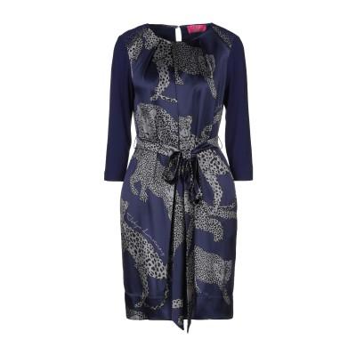 VDP CLUB ミニワンピース&ドレス ダークブルー 42 シルク 95% / ポリウレタン 5% ミニワンピース&ドレス
