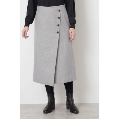 HUMAN WOMAN / ヒューマンウーマン ◆撚杢ツィードスカート