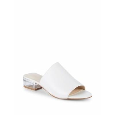ナインウエスト レディース シューズ サンダル Leather Block Heel Sandals