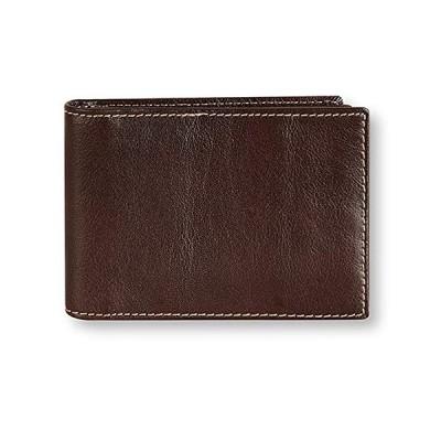sslink カードケース 本革 (ダークブラウン) スリム ポイントカード クレジットカード 収納 二つ折り カード入れ カードホルダー