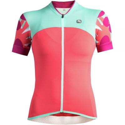 ジョルダーノ Giordana レディース 自転車 トップス Lungo Short-Sleeve Jersey Pink/Aqua