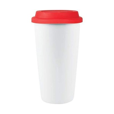 Custom 16 oz Terra- Terra (White with red lid) - 72 PCS - $7.79/EA - Promotional Product with Your Logo/Bulk/Wholesale【並行輸入品】