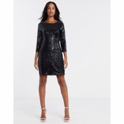 グラマラス Glamorous レディース ボディコンドレス ワンピース・ドレス Sequin Bodycon Dress In Black