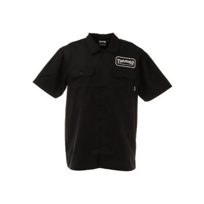 スラッシャー(THRASHER) HOMETOWN PATCH 半袖ワークシャツ TH5179BK (メンズ)