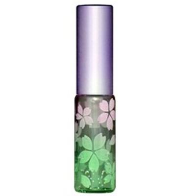 キラキラ ラメ さくら咲く アトマイザー アルミキャップ プラスチックポンプ 68177 (ラメサクラ パープル/グリーン) 4ml