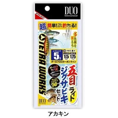 デュオ(DUO) 五目ライトジグサビキセット 5g アカキン メタルジグ