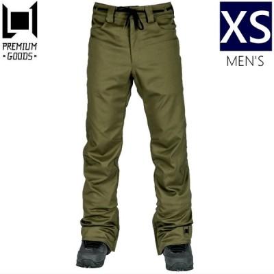 ☆メンズ[XSサイズ] 20 L1 SKINNY TWILL PNT カラー:MILITARY エルワン スキー スノーボードウェア メンズパンツ スキニーツイルパンツ PANT