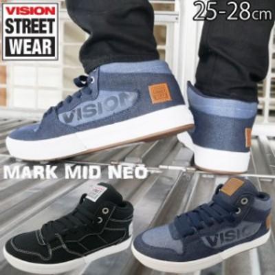 メンズ スニーカー 人気 流行 VISION STREET WEAR VSW-0160 ヴィジョン ストリートウェア マークミッド ネオ ミッドカット カジュアルシ