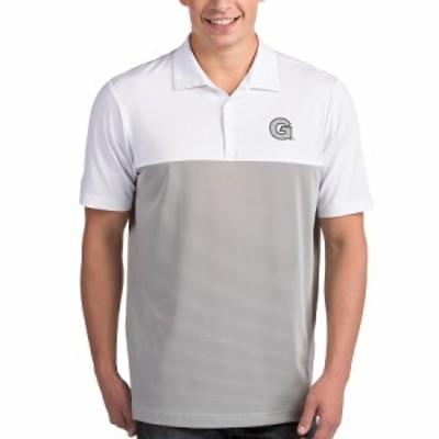 """メンズ ポロシャツ """"Georgetown Hoyas"""" Antigua Venture Polo - White/Gray"""