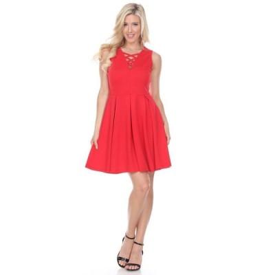 ホワイトマーク レディース ワンピース トップス Women's Shay Fit and Flare Dress
