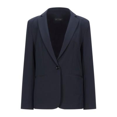 GIULIA VALLI テーラードジャケット ダークブルー 46 ポリエステル 89% / ポリウレタン 11% テーラードジャケット
