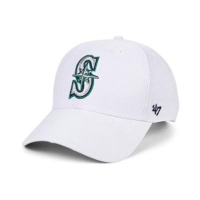 47ブランド メンズ 帽子 アクセサリー Seattle Mariners White MVP Cap White