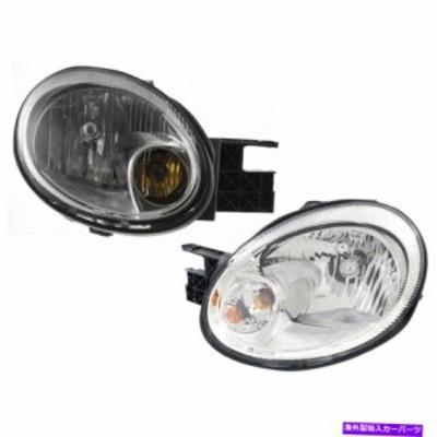 USヘッドライト Headlights Headlamps W / Chrome Bezel左右ペアセット03-05 Dodge Neon Headlights Headlamps w/ Chrome Bezel
