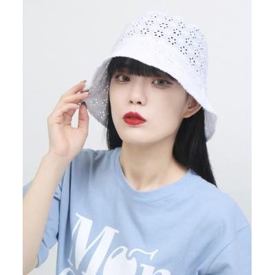 WEGO / WC/コットンレースバケットハット WOMEN 帽子 > ハット