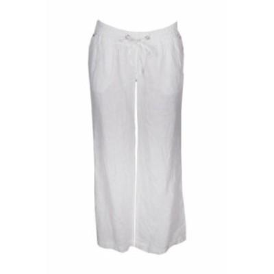 ファッション パンツ Inc INTERNATIONAL CONCEPTS White Curvy-Fit Wide Leg Linen Trousers 4
