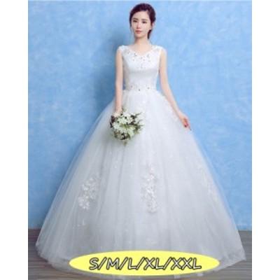 結婚式ワンピース ウェディングドレス ファッション レディース 体型カバー aライン 大人の魅力 ロング丈ワンピ-ス
