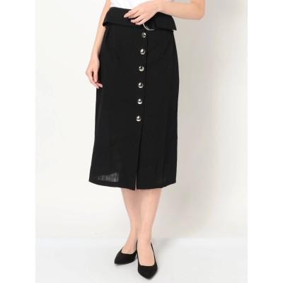 【公式】EMODA(エモダ)ハイウエストスリットミディフレアスカート