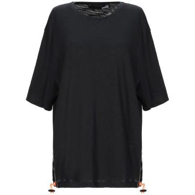 ラブ モスキーノ LOVE MOSCHINO T シャツ ブラック 38 コットン 100% / ポリウレタン T シャツ