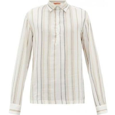 バレナ Barena Venezia メンズ シャツ ヘンリーシャツ トップス Pavan striped Henley shirt White