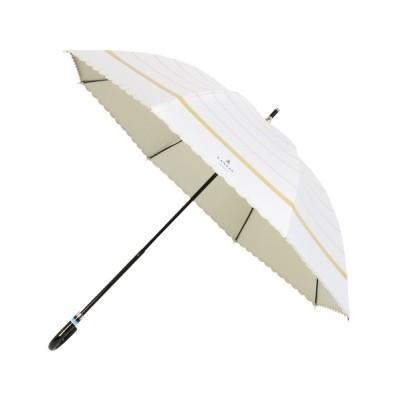 MOONBAT / 晴雨兼用日傘 りぼんボーダー×スカラ刺繍 WOMEN ファッション雑貨 > 長傘