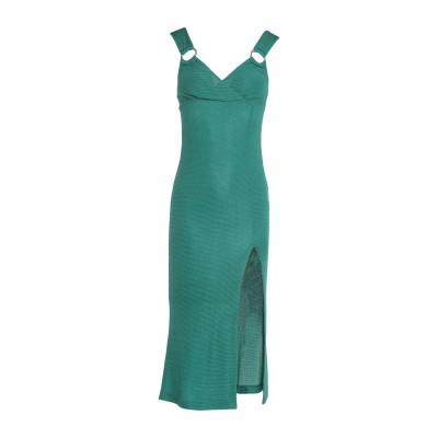 ジャストカヴァリ JUST CAVALLI 7分丈ワンピース・ドレス グリーン 44 レーヨン 82% / ナイロン 15% / ポリウレタン 3%