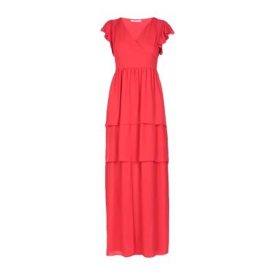 BIANCOGHIACCIO ロングワンピース&ドレス レッド XS ポリエステル 100% ロングワンピース&ドレス