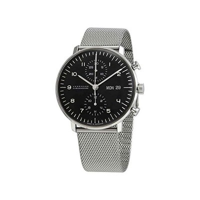 Junghans Max Bill Chronoscope Chronograph Automatic Black Dial Men's Watch 027/4500.49 海外お取り寄せ商品