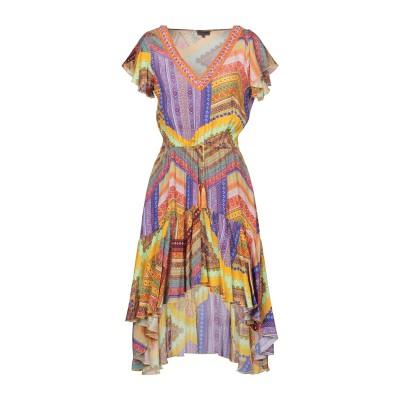 MISS BIKINI LUXE ミニワンピース&ドレス オークル 42 レーヨン 100% ミニワンピース&ドレス