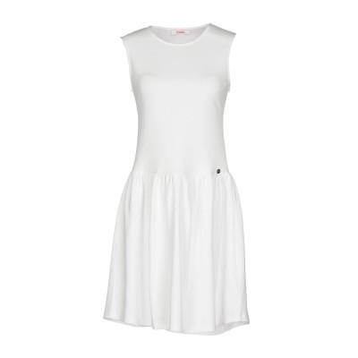 ブルーガール ブルマリン BLUGIRL BLUMARINE ミニワンピース&ドレス ホワイト 38 レーヨン 85% / ポリエステル 15% ミ