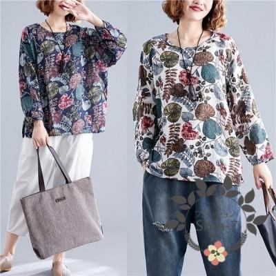 Tシャツ 大きいサイズ プルオーバー カットソー 体型カバー 長袖 トップス レディース ゆったり ティーシャツ クルーネック