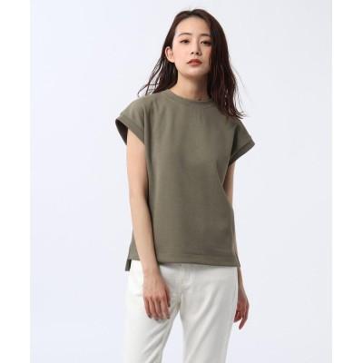 UNTITLED(アンタイトル) 【洗える】テックリノジャージフレンチTシャツ