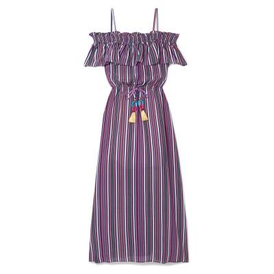 FIGUE 7分丈ワンピース・ドレス フューシャ S シルク 100% 7分丈ワンピース・ドレス