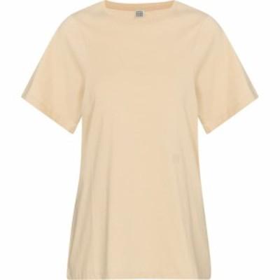 トーテム Toteme レディース Tシャツ トップス cotton jersey t-shirt Champagne
