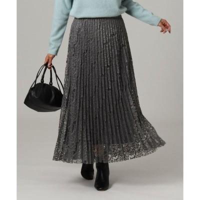 UNTITLED / アンタイトル 【洗える】カリーノジオメレースプリーツスカート