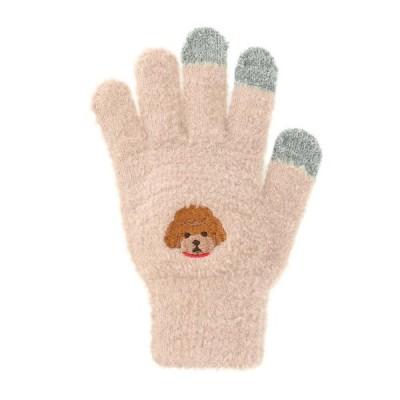 スマホ手袋 トイプードル 17318631038    フリーサイズ