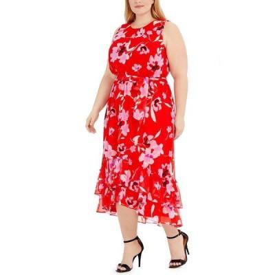 カルバンクライン ワンピース トップス レディース Plus Size Sleeveless Maxi Dress Black Multi