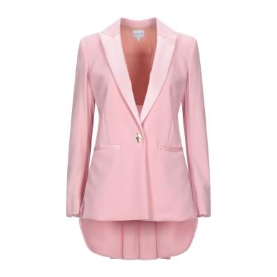 VIOLANTE NESSI テーラードジャケット ピンク 36 バージンウール 89% / ナイロン 9% / ポリウレタン 2% / シルク テ
