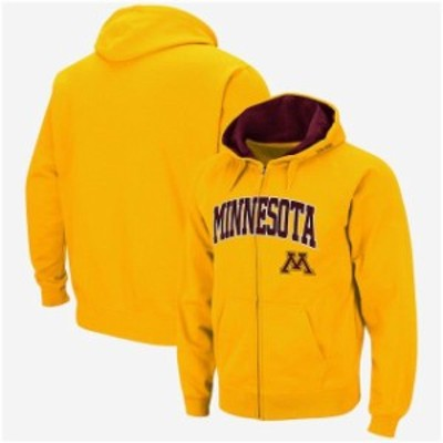 Colosseum コロセウム スポーツ用品  Colosseum Minnesota Golden Gophers Gold Arch & Logo Tackle Twill Full-Zip Hoodie