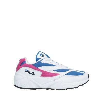 FILA スニーカー&テニスシューズ(ローカット) ブルー 38 革 / 紡績繊維 スニーカー&テニスシューズ(ローカット)