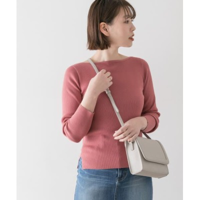 URBAN RESEARCH ROSSO/アーバンリサーチ ロッソ F by ROSSO ウォッシャブルリブニット PINK FREE