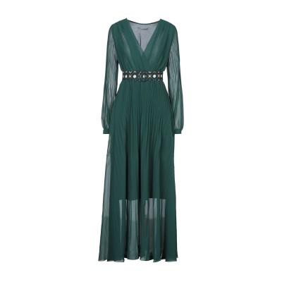 MARELLA ロングワンピース&ドレス グリーン 42 ポリエステル 100% ロングワンピース&ドレス