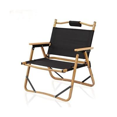 アームレスト付きキャンプチェア、快適で 折りたたみ椅子ピクニックハイキングフィッシングに最適な超軽量ポータブル屋外折りたたみ椅子,黒