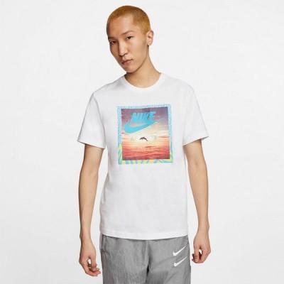 ナイキ Tシャツ メンズ 上 NIKE グラフィック ビッグロゴ フォトT 半袖 CT6591 WHT 送料無料 新作