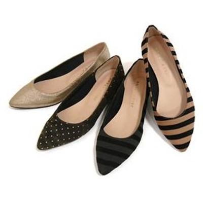 パンプス JELLY BEANS ジェリービーンズ JB ポインテッドフラットパンプス(112-6226) シューズ 靴 お取り寄せ商品
