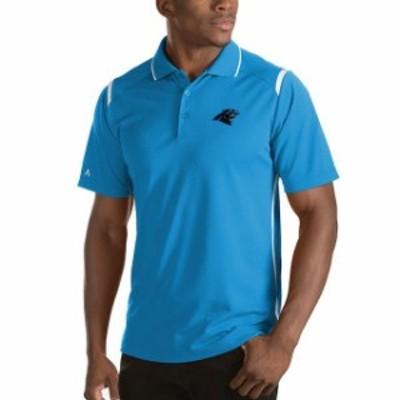 Antigua アンティグア スポーツ用品  Antigua Carolina Panthers Blue Merit Polo