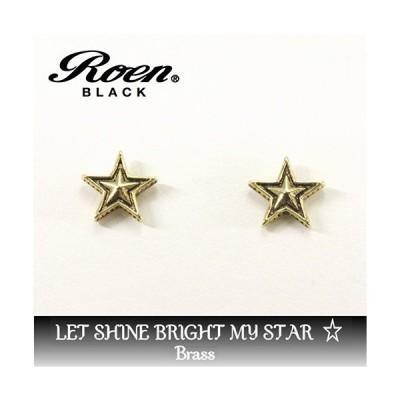 Roen Roen BLACK ロエン ブラック ピアス ゴールド スター /RO-109